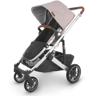 UPPAbaby CRUZ V2 Stroller Alice Dusty Pink Silver Saddle Leather