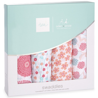 aden + anais x tea Classic Swaddles Global Garden