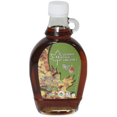 Canadian Heritage Organics Dark Maple Syrup Small