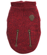 Canada Pooch Northern Knit Sweater in Maroon Size 22