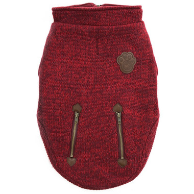 Canada Pooch Northern Knit Sweater in Maroon Size 14