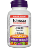 Webber Naturals Echinacea, Standardized Herb Extract (8:1extract), 2100mg