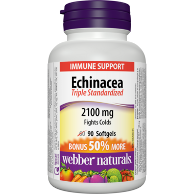 Webber Naturals Echinacea, Standardized Herb Extract (8:1 extract), 2100 mg