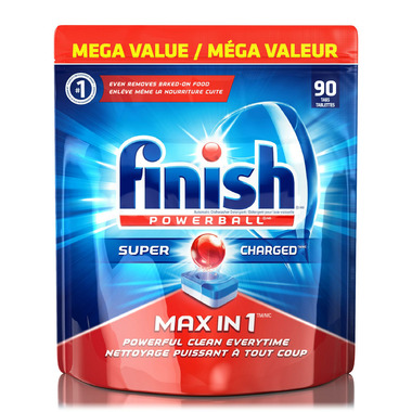 Finish Powerball Max in 1 Super Charged Dishwasher Detergent Value Pack