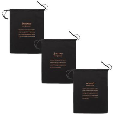MYTAGALONGS Definitions Black Drawstring Bags