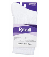 Rexall Ladies Casual Mid Crew Diabetic Socks