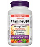 Webber Naturals Vitamin C+D3 500 mg/500 IU