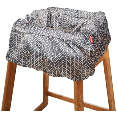 Skip Hop Take Cover Shopping Cart & High Chair Cover Grey Feather