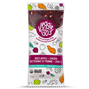 Veggie Go\'s Chewy Fruit and Veggie Strip Beet, Apple and Cinnamon
