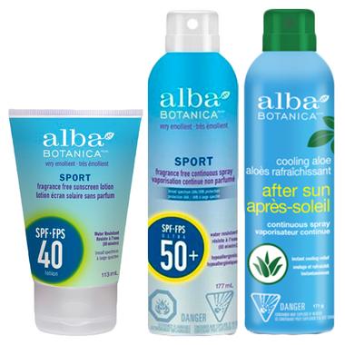 Alba Botanica Sport SPF 40+ Sunscreen & Aloe Bundle