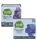 Seventh Generation Overnight Pads and Regular Tampons Bundle