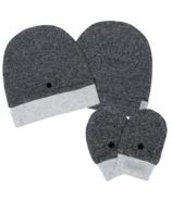 Juddlies Organic Hat & Mitts Graphite Black 0-3 Months Bundle