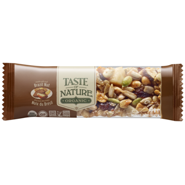 Taste of Nature Organic Food Bars Brazilian Nut