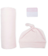 Lulujo Hello World Blanket & Knotted Hat Pink
