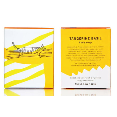 meow meow tweet Tangerine, Basil & Poppy Seed Bar Soap