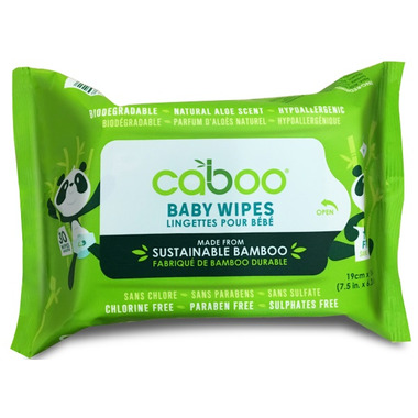 Caboo Bamboo Aloe Baby Wipes Travel Size