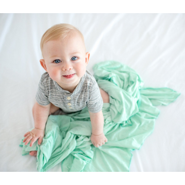 Copper Pearl Bay Swaddle Blanket