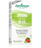 Jamieson Chewable Iron Plus Vitamin B12 Tropical Mango Lime Flavour