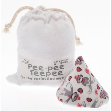 Beba Bean Pee-Pee Teepee & Laundry Bag Sock Monkey