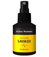 Active Humans Spray Deodorant Unscented Savage