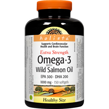 Holista Omega-3 with Wild Salmon Oil EPA 300 DHA 200 1000 mg