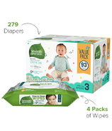 Seventh Generation Size 3 Diapers & Wipes Bundle