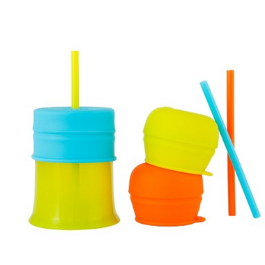 Boon Snug Straw With Cup Orange Multi
