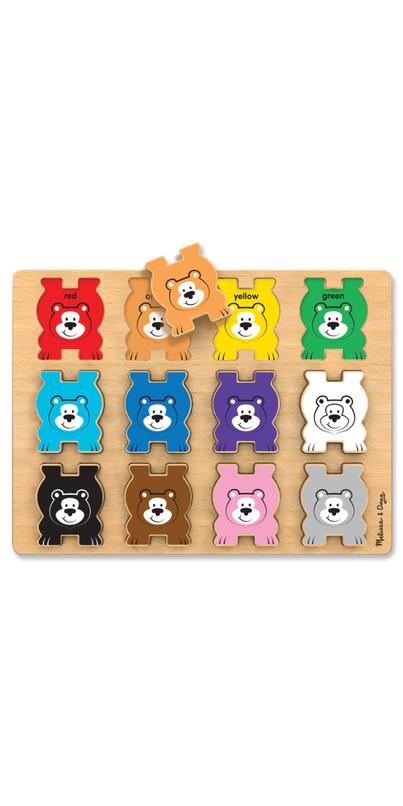 Melissa Doug Stacking Chunky Bears Puzzle