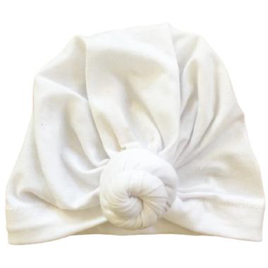 Baby Wisp Bohemian Knot Hat White