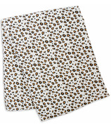 Lulujo Swaddle Blanket Bamboo Cotton Leopard