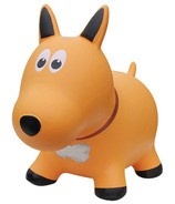 Farm Hoppers Inflatable Bouncing Dog Yellow