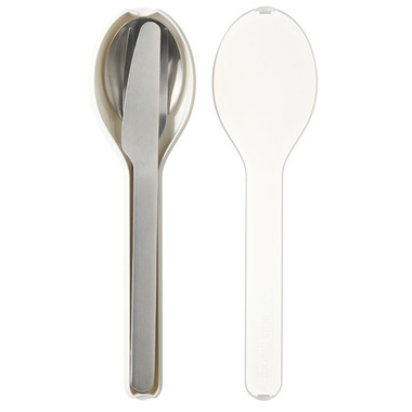 Mepal Ellipse Cutlery Set White
