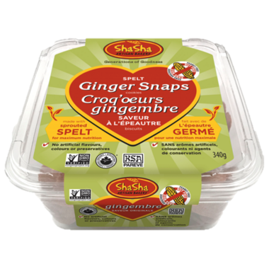 ShaSha Co. Organic Spelt Ginger Snaps