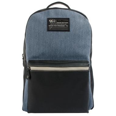 Buffalo David Bitton Robinson Denim Backpack Blue