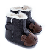 Jack & Lily My Mocs Boots Bear Black/Brown