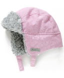 Juddlies Winter Hats Salt & Pepper Pink