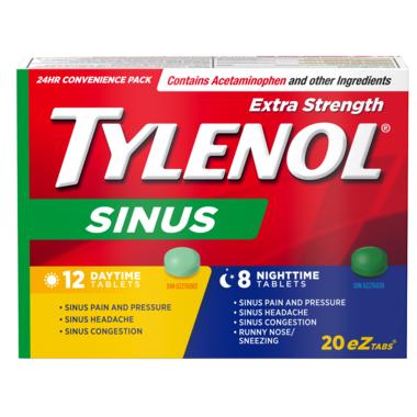 Tylenol Sinus Extra Strength Day + Night eZ Tabs