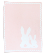Living Textiles Cozy Chenille Baby Blanket Bunnies