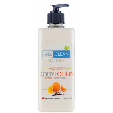 All Clean Natural Orange Vanilla Body Lotion