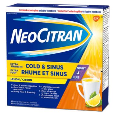 NeoCitran Extra Strength Cold & Sinus Night
