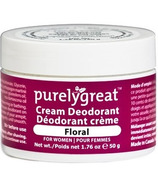 PurelyGreat Cream Deodorant for Women Floral