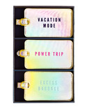 Eccolo Luggage Tag Set of 3 Iridescent Power Trip