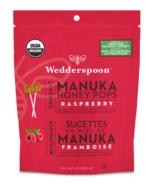 Wedderspoon Organic Manuka Honey Pops Raspberry