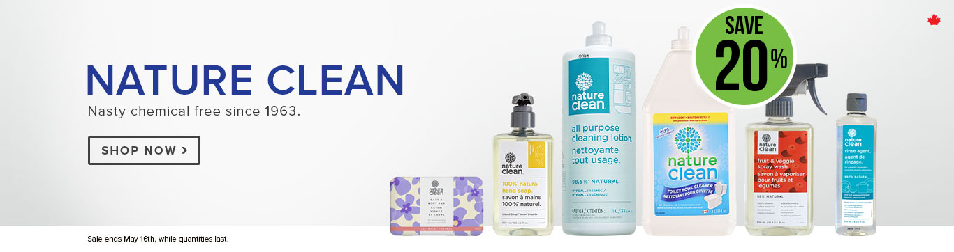 Save 20% on Nature Clean