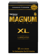 Trojan Magnum XL Extra Large Size Lubricated Latex Condoms
