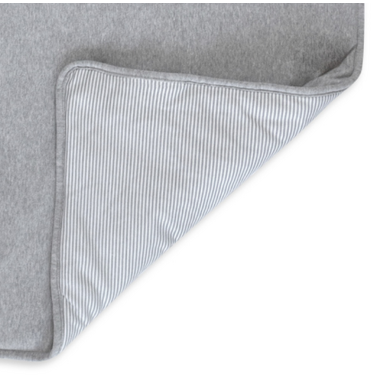 Living Textiles Quilted Comforter Grey Marl & Grey Heathered Stripes
