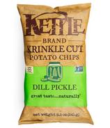 Kettle Dill Pickle Krinkle Cut Potato Chips