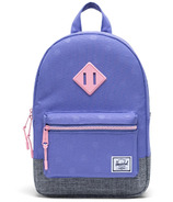 Herschel Supply Heritage Kids Dusted Peri, Polka & Raven Crosshatch