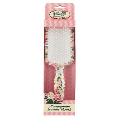 The Vintage Cosmetics Company Rectangular Paddle Hair Brush Floral