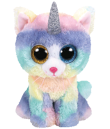 Ty Beanie Boo's Heather The Horned Cat Regular